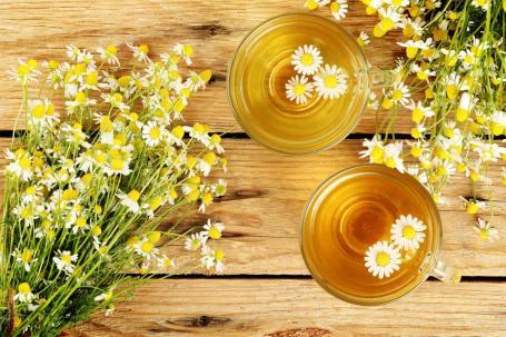 chamomile-tea-on-a-board