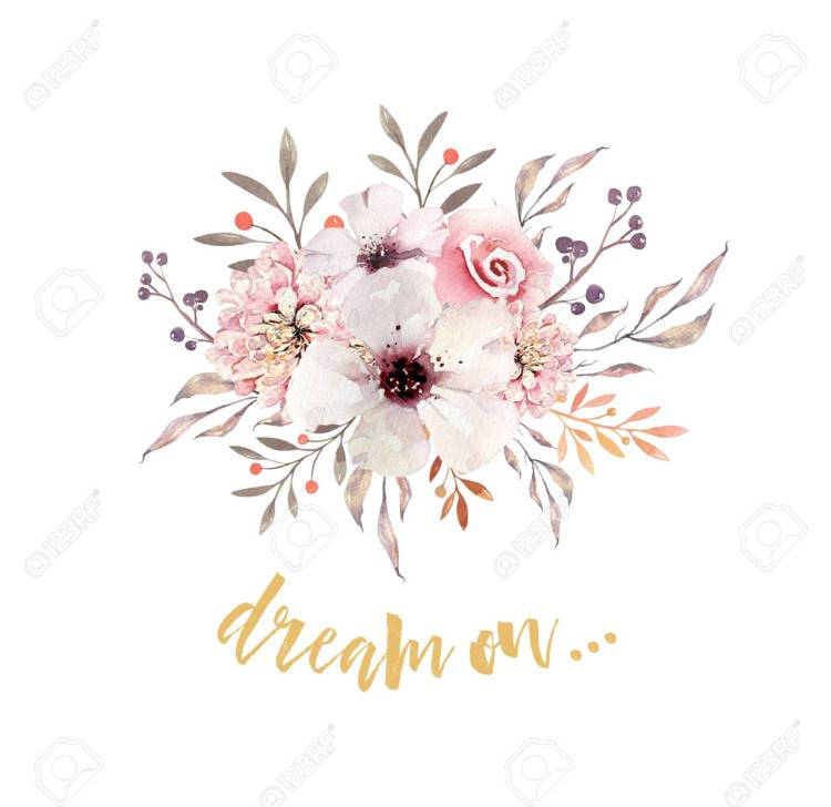Watercolor boho floral bouquets. Watercolour bohemian natural frame: leaves, feathers, flowers, Isolated on white background.Artistic decoration illustration.